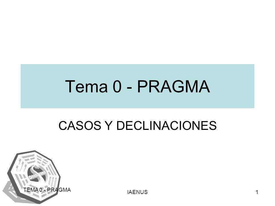 IAENUS1 TEMA 0 - PRAGMA Tema 0 - PRAGMA CASOS Y DECLINACIONES