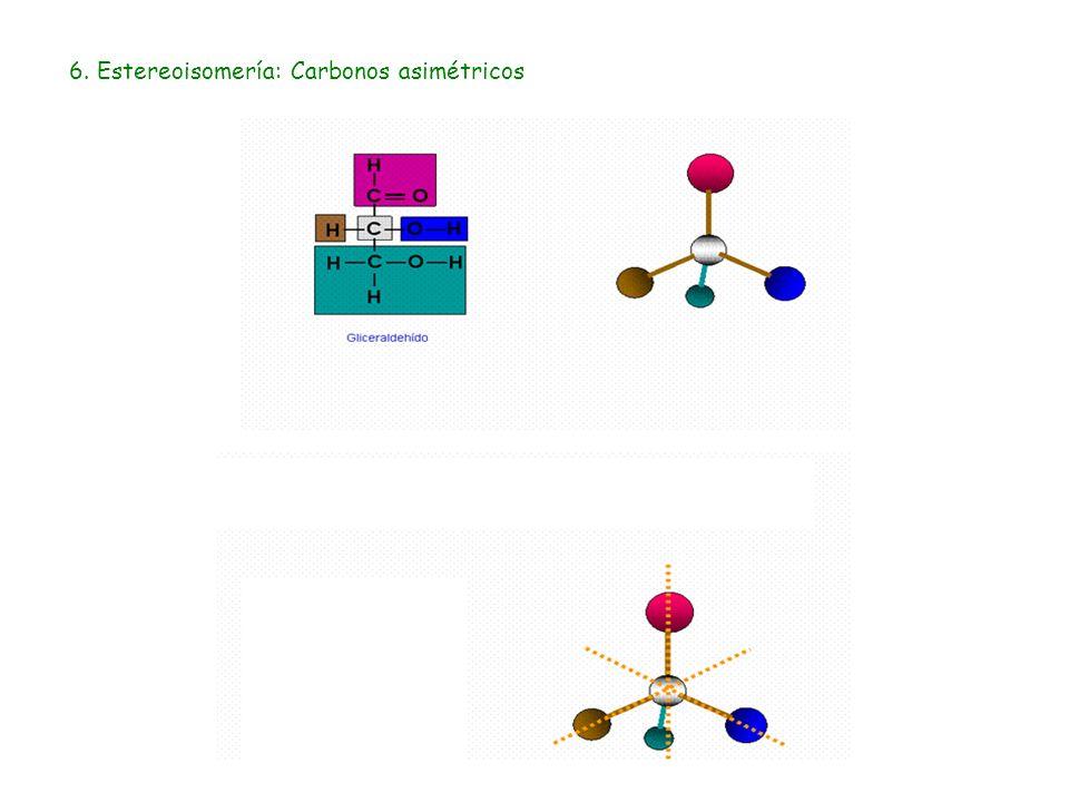 6. Estereoisomería: Carbonos asimétricos