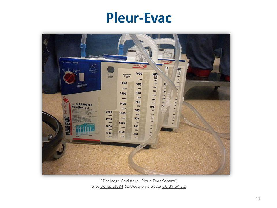 "Pleur-Evac ""Drainage Canisters - Pleur-Evac Sahara"", από Bentplate84 διαθέσιμο με άδεια CC BY-SA 3.0Drainage Canisters - Pleur-Evac SaharaBentplate84C"