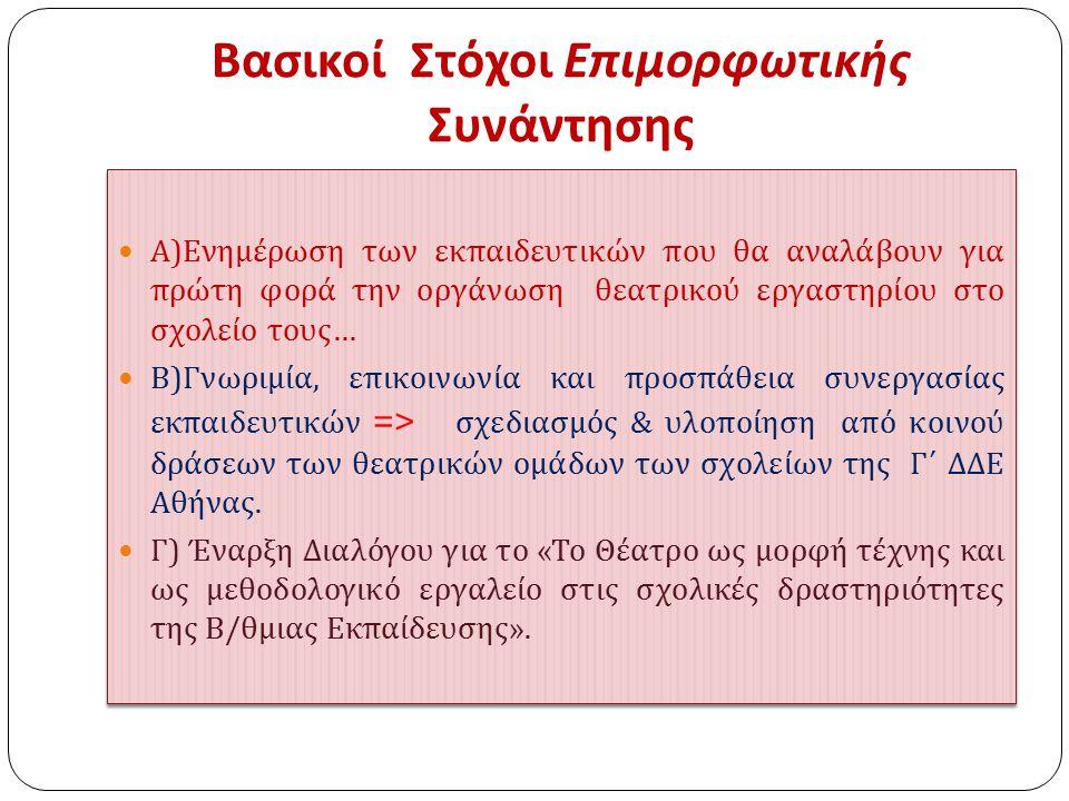 ΘΕΑΤΡΟ Α ΧΩΡΟς ΧΡΟΝΟς Β Γ
