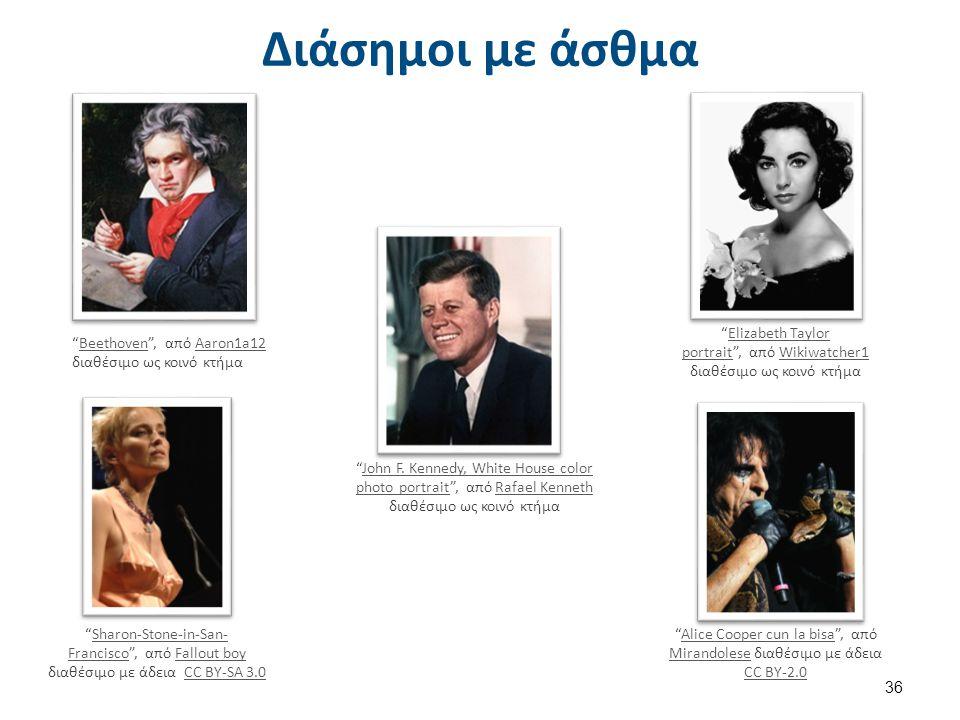"""Διάσημοι με άσθμα """"Beethoven"""", από Aaron1a12 διαθέσιμο ως κοινό κτήμαBeethovenAaron1a12 """"John F. Kennedy, White House color photo portrait"""", από Rafae"""