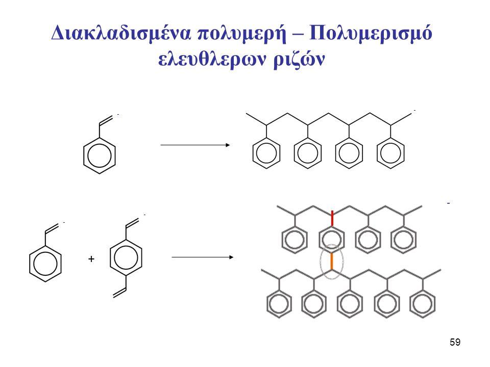 59 Διακλαδισμένα πολυμερή – Πολυμερισμό ελευθλερων ριζών +