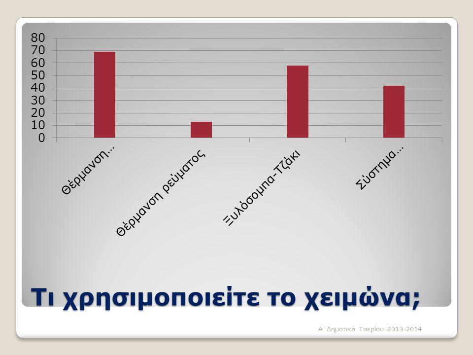 Τι χρησιμοποιείτε το χειμώνα; Α΄Δημοτικό Τσερίου 2013-2014
