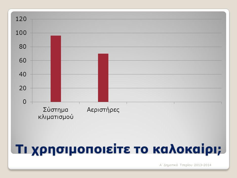 Τι χρησιμοποιείτε το καλοκαίρι; Α΄Δημοτικό Τσερίου 2013-2014