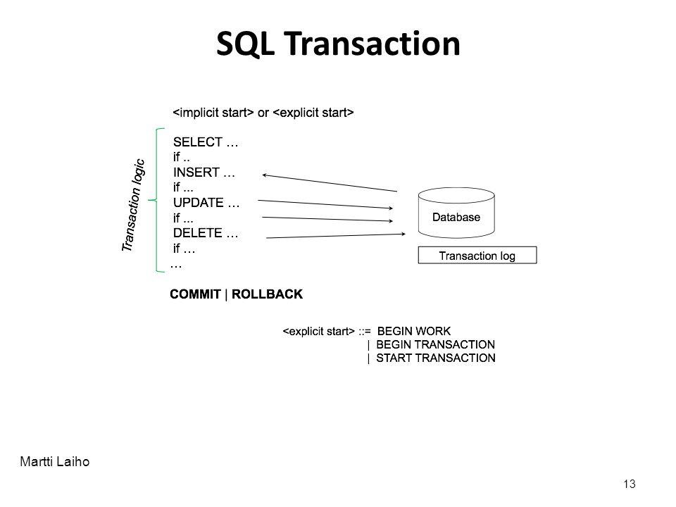 Martti Laiho SQL Transaction 13