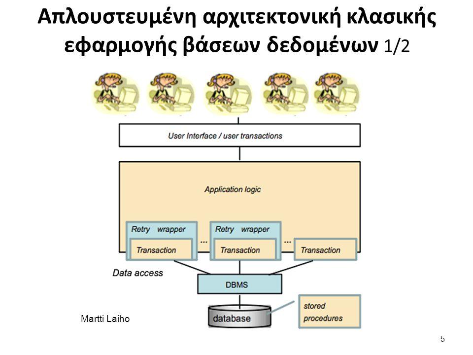 Martti Laiho Απλουστευμένη αρχιτεκτονική κλασικής εφαρμογής βάσεων δεδομένων 1/2 5