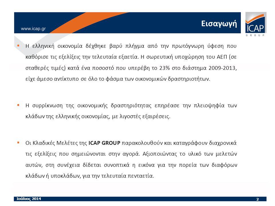 Εισαγωγή  Η ελληνική οικονομία δέχθηκε βαρύ πλήγμα από την πρωτόγνωρη ύφεση που καθόρισε τις εξελίξεις την τελευταία εξαετία.