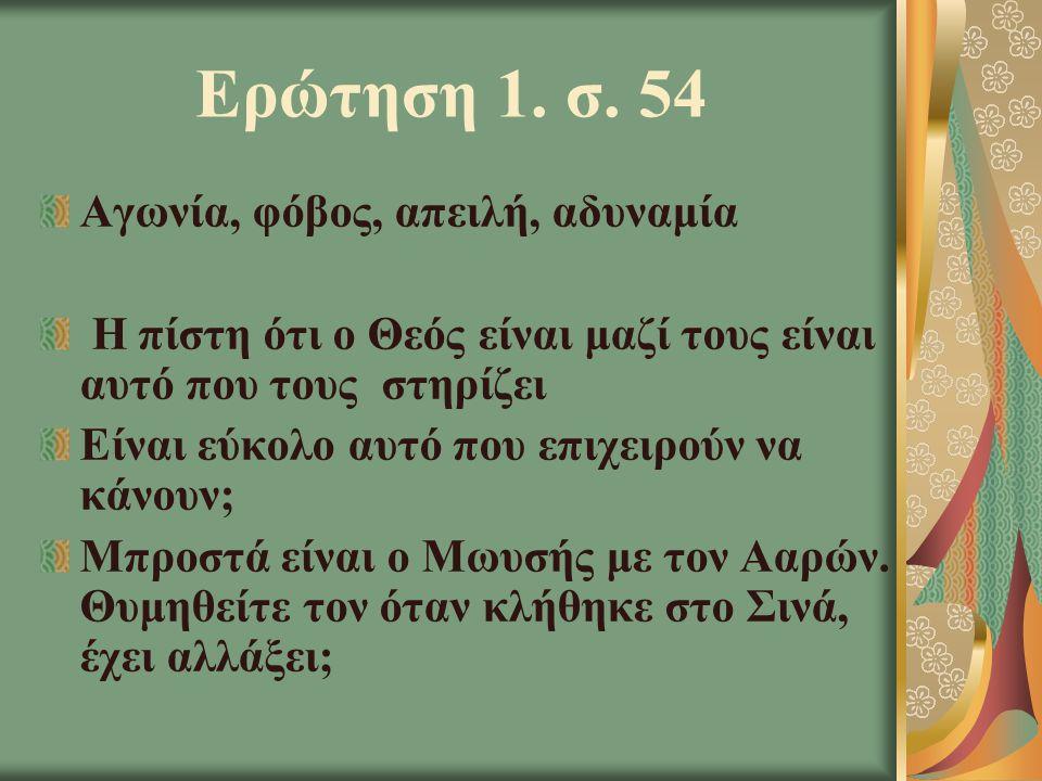 Ερώτηση Γ΄ Προσέξτε τις θαυμαστές ενέργειες του Θεού.