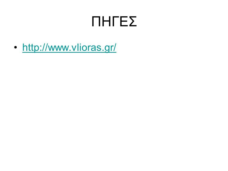 ΠΗΓΕΣ http://www.vlioras.gr/