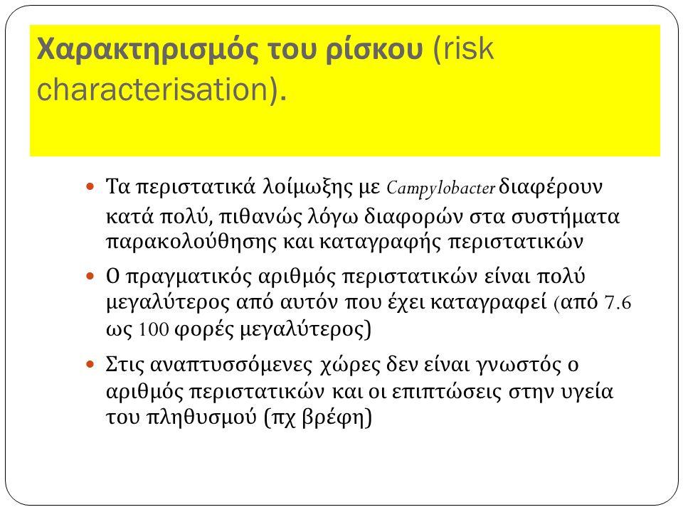 Χαρακτηρισμός του ρίσκου (risk characterisation).