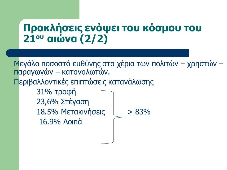 Πρόσθετες Προκλήσεις για την Ελλάδα και την Παιδεία της 1.