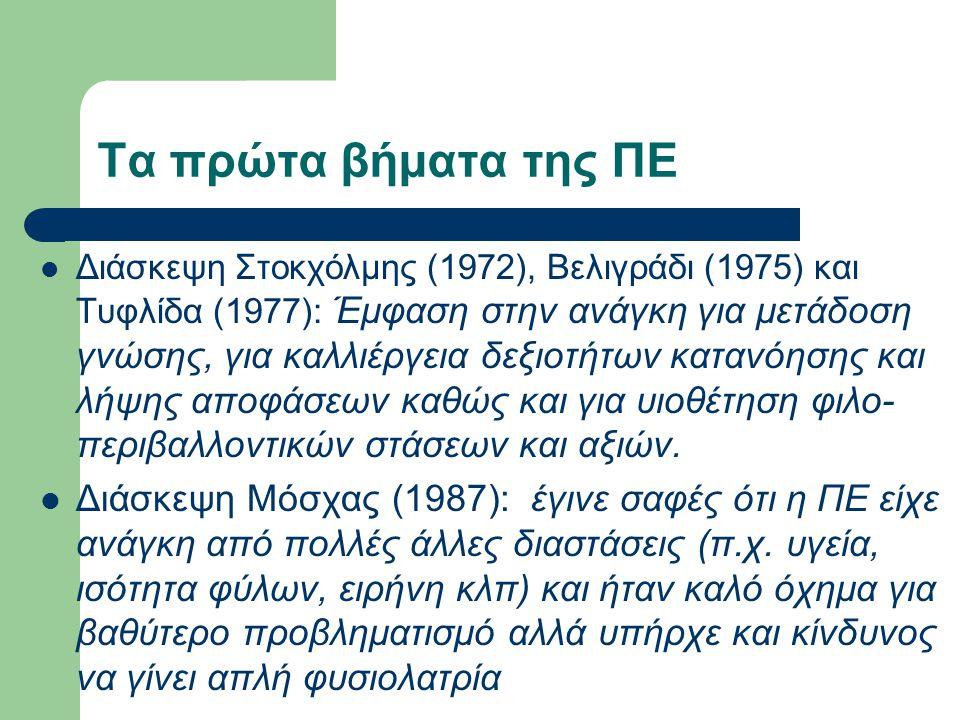 Διάσκεψη Στοκχόλμης (1972), Βελιγράδι (1975) και Τυφλίδα (1977): Έμφαση στην ανάγκη για μετάδοση γνώσης, για καλλιέργεια δεξιοτήτων κατανόησης και λήψ