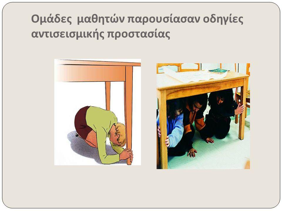 Ομάδες μαθητών παρουσίασαν οδηγίες αντισεισμικής προστασίας