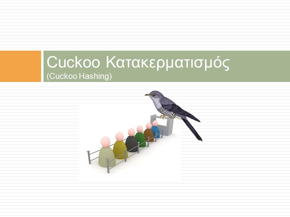 Cuckoo Κατακερματισμός (Cuckoo Hashing)