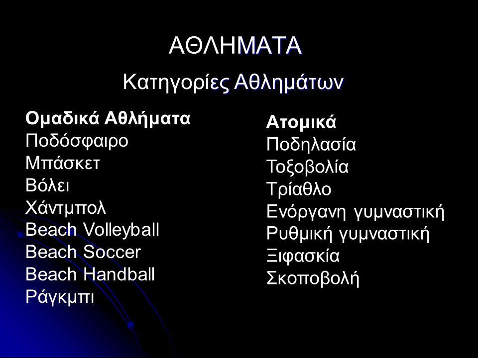 Ομαδικά Αθλήματα