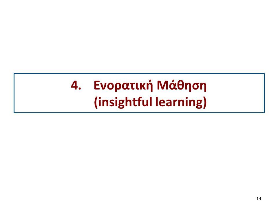 14 4.Ενορατική Μάθηση (insightful learning)