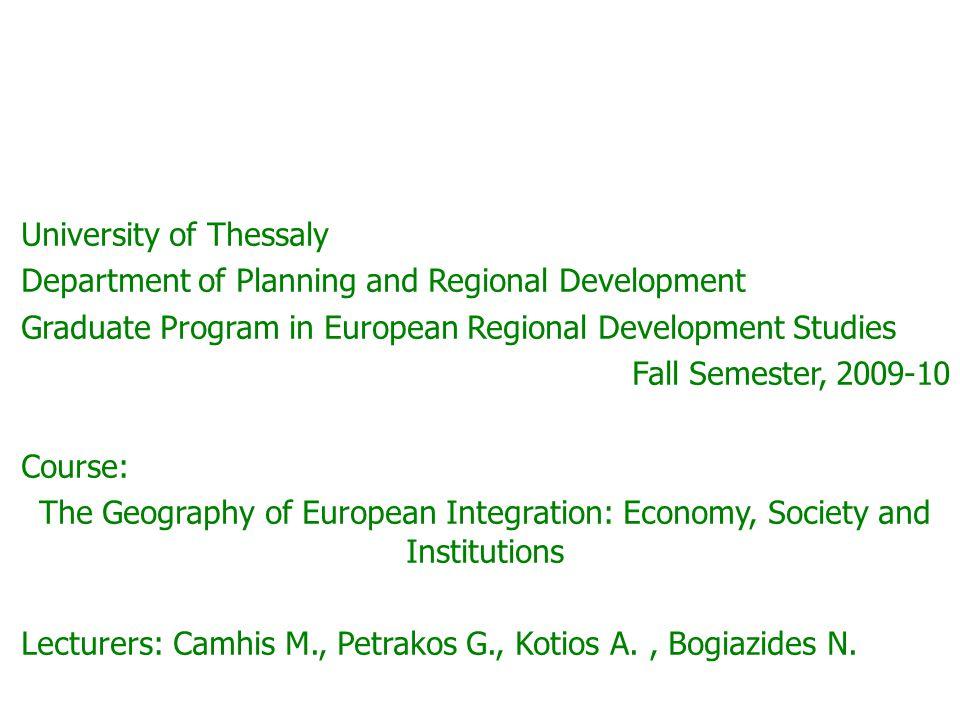 Presentation 6: European Cohesion Policy Angelos Kotios