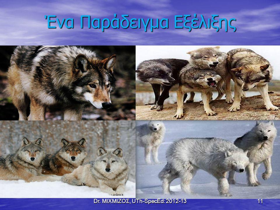 Ένα Παράδειγμα Εξέλιξης Dr. ΜΙΧΜΙΖΟΣ, UTh-SpecEd: 2012-13 11