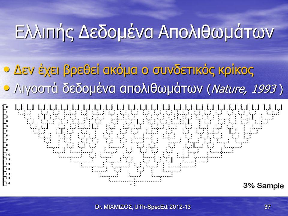 Γενετικά ή Πολιτισμικά Χαρακτηριστικά; Dr. ΜΙΧΜΙΖΟΣ, UTh-SpecEd: 2012-13 38