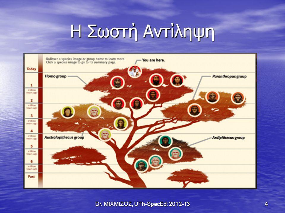 Η Έννοια του Είδους Dr. ΜΙΧΜΙΖΟΣ, UTh-SpecEd: 2012-13 5