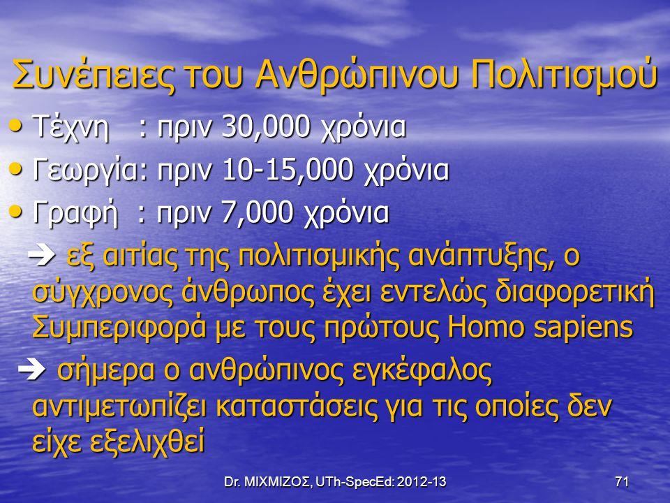 Dr. ΜΙΧΜΙΖΟΣ, UTh-SpecEd: 2012-1372 ΤΕΛΟΣ 3 ης ΔΙΑΛΕΞΗΣ