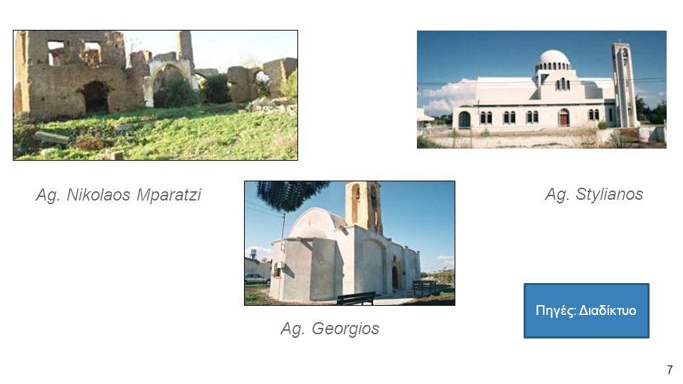 7 Ag. Nikolaos Mparatzi Ag. Georgios Ag. Stylianos Πηγές: Διαδίκτυο
