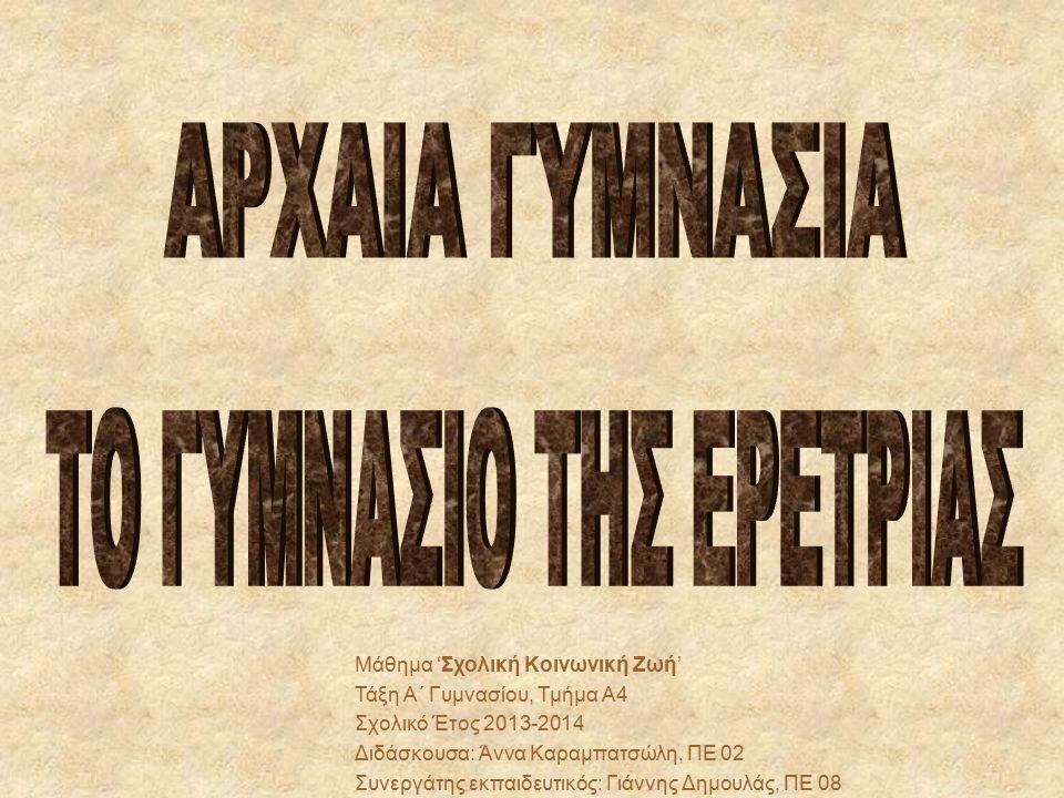 Σύμφωνα με τον Παυσανία τα γυμνάσια αποτελούσαν αναπόσπαστο μέρος κάθε ελληνικής πόλης στον ίδιο βαθμό όπως το θέατρο ή η αγορά.
