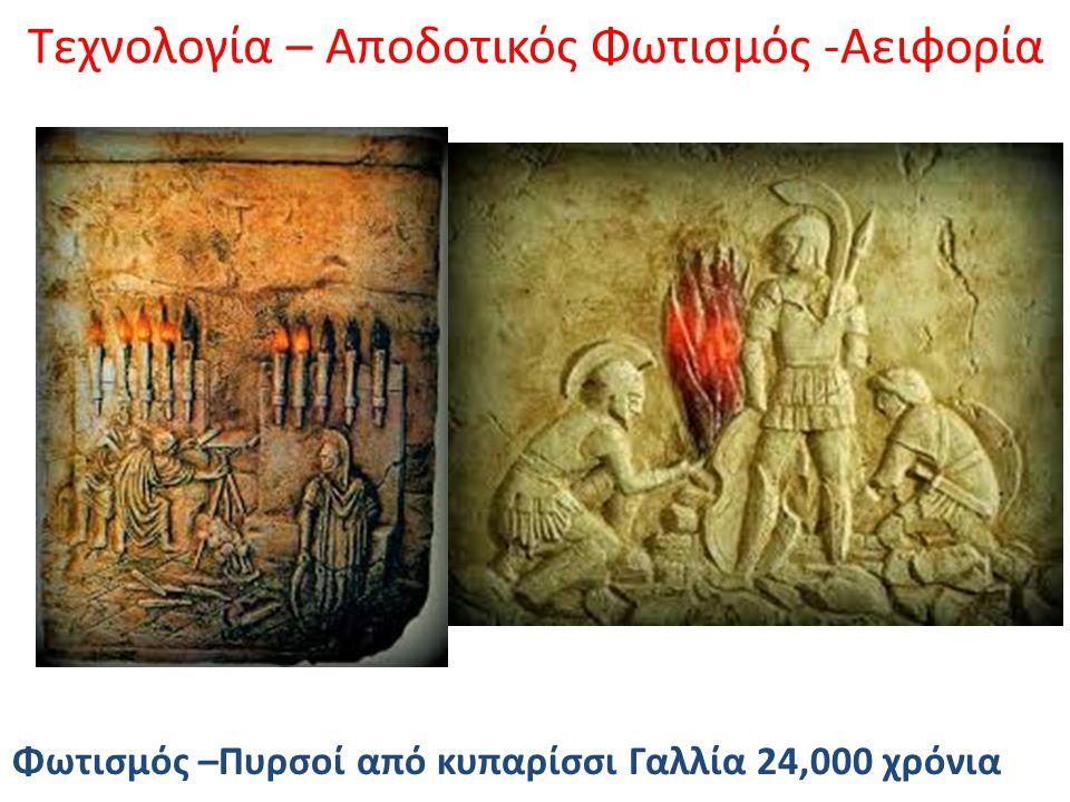 Τεχνολογία – Αποδοτικός Φωτισμός -Αειφορία Φωτισμός –Πυρσοί από κυπαρίσσι Γαλλία 24,000 χρόνια