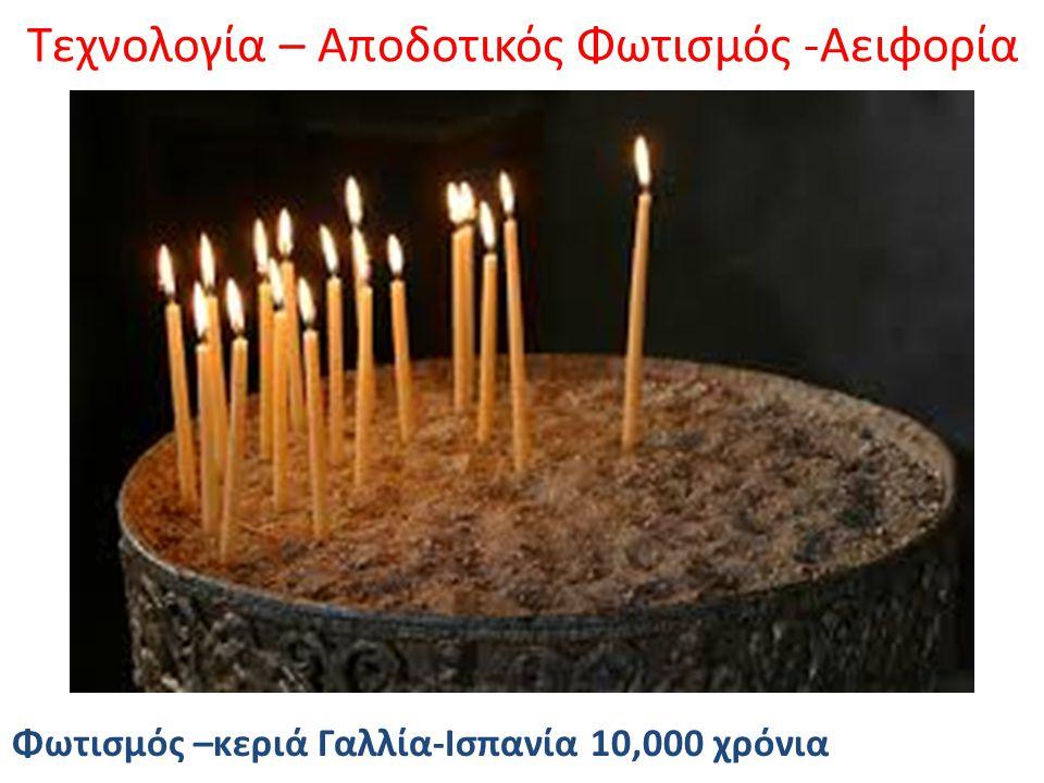 Τεχνολογία – Αποδοτικός Φωτισμός -Αειφορία Φωτισμός –κεριά Γαλλία-Ισπανία 10,000 χρόνια