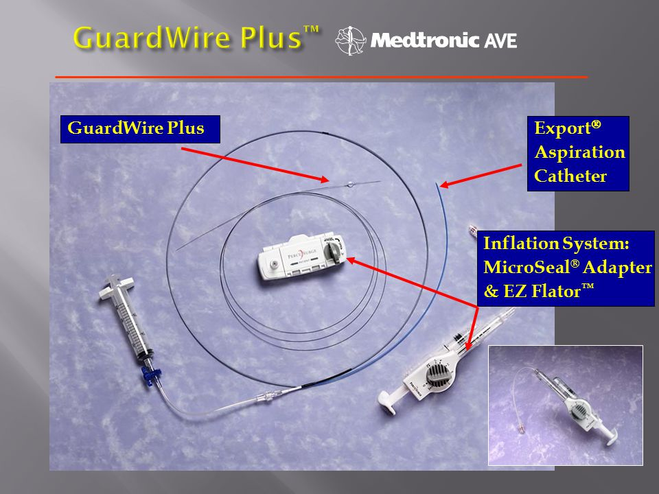 GuardWire Plus Inflation System: MicroSeal ® Adapter & EZ Flator ™ Export  Aspiration Catheter