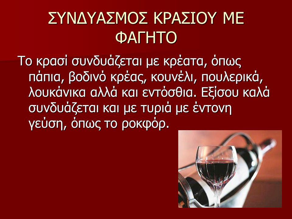ΕΙΔΗ ΚΡΑΣΙΩΝ Κόκκινο κρασί Κόκκινο κρασί Λευκό κρασί Λευκό κρασί Ροζέ κρασί Ροζέ κρασί Σημαντικό διακριτικό κάθε κρασιού είναι και το χρώμα του.