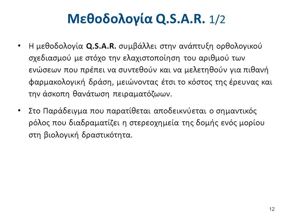 Μεθοδολογία Q.S.A.R. 1/2 Η μεθοδολογία Q.S.A.R. συμβάλλει στην ανάπτυξη ορθολογικού σχεδιασμού με στόχο την ελαχιστοποίηση του αριθμού των ενώσεων που