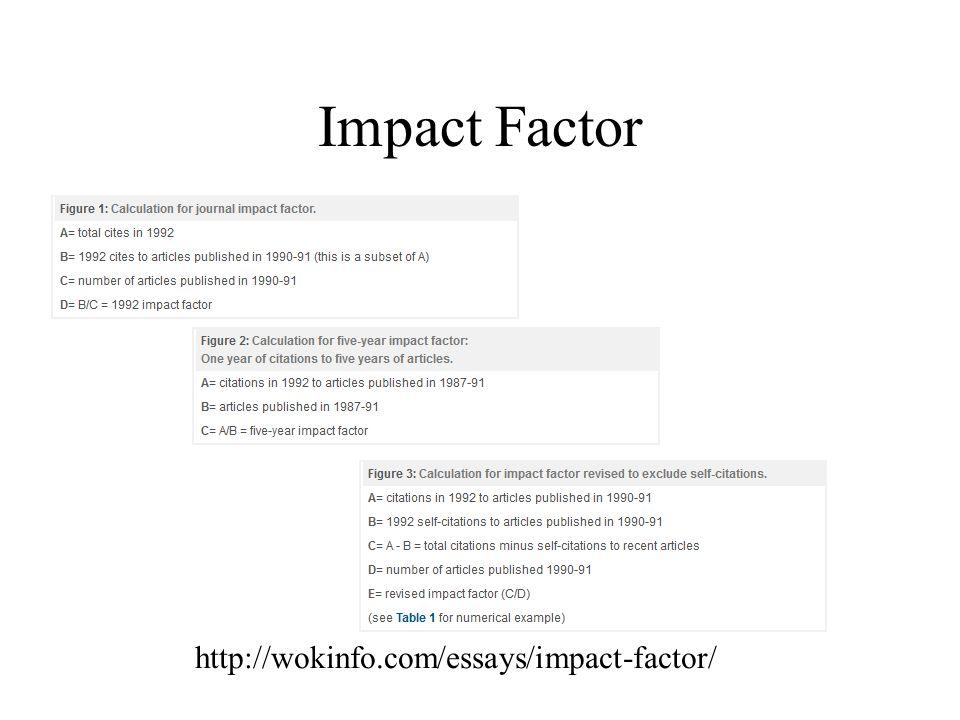 Impact Factor http://wokinfo.com/essays/impact-factor/