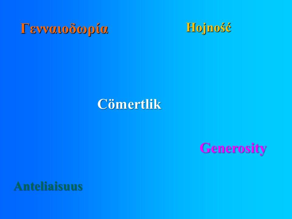 Γ ενναιοδωρία Cömertlik Hojność Anteliaisuus Generosity