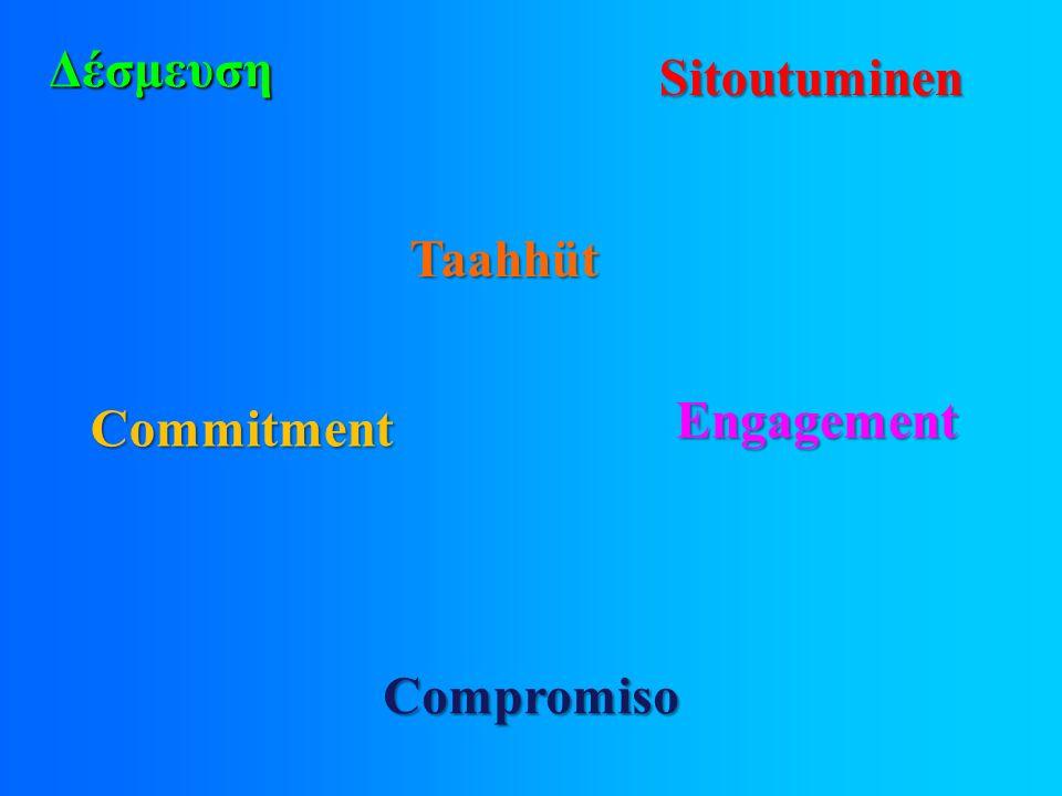 Δέσμευση Sitoutuminen Compromiso Engagement Commitment Taahhüt