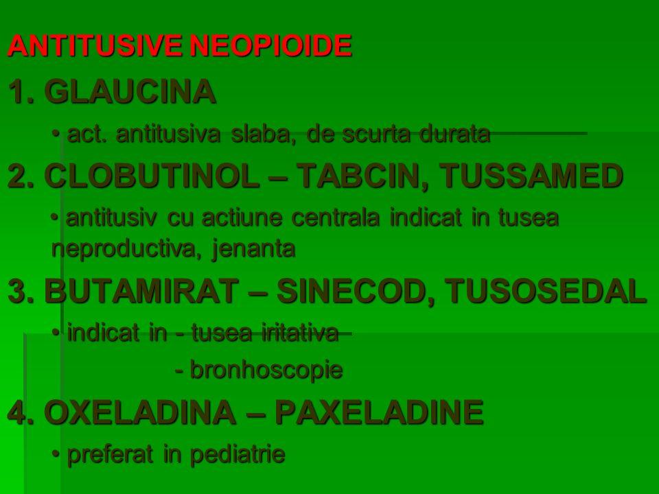 EXPECTORANTE SECRETOLITICE (MUCOLITICE) vascozitatea mucusului SECRETOSTIMULANTE activitatea secretorie a gld.