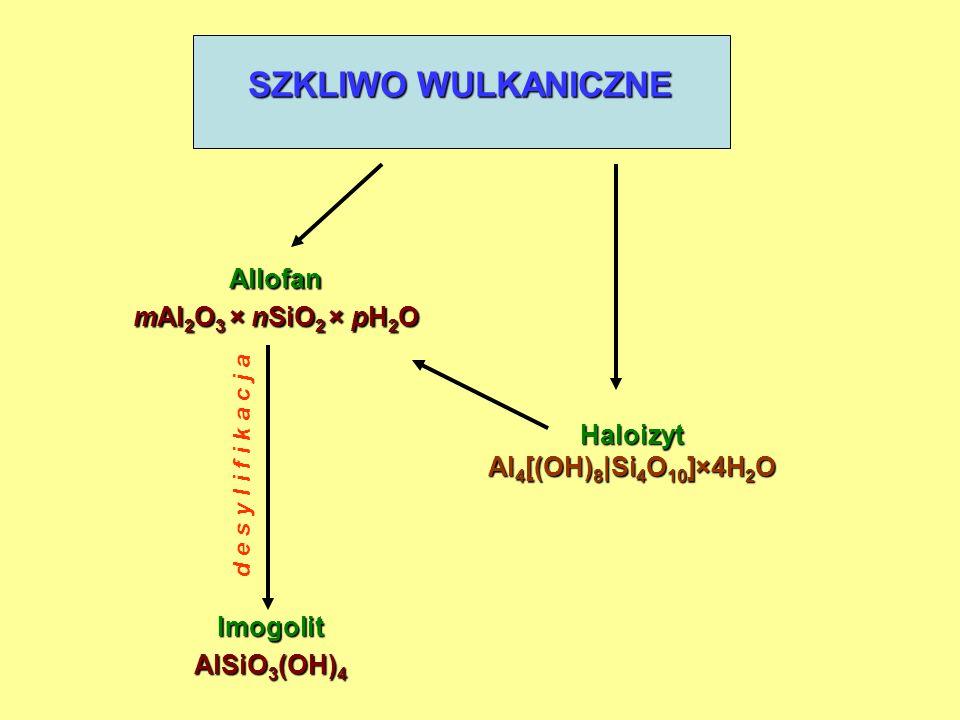 Warunki konieczne do powstania allofanów