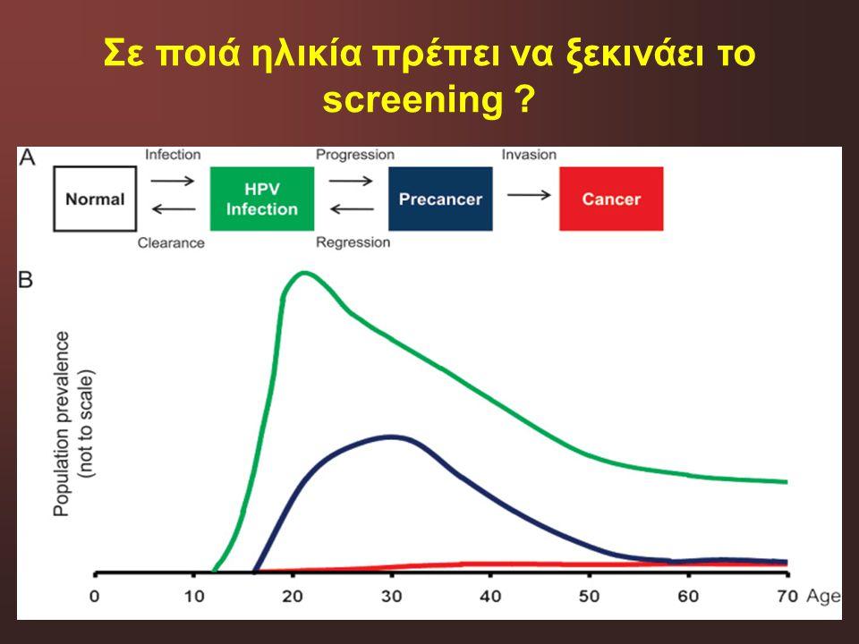 Σε ποιά ηλικία πρέπει να ξεκινάει το screening ?