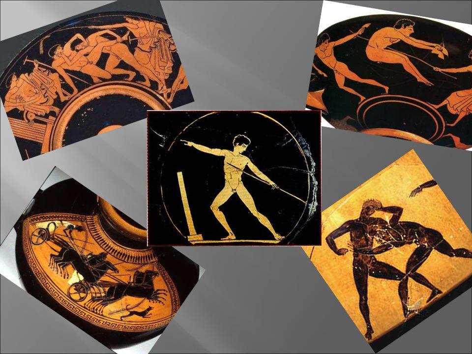  Το ακόντιο  Οι αρχαίοι Έλληνες φρόντιζαν να ασκούνται συχνά στη ρίψη του ακοντίου, αφού αυτό αποτελούσε το βασικό επιθετικό τους όπλο.