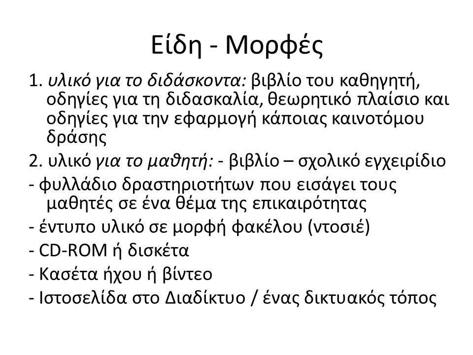 Είδη - Μορφές 1.