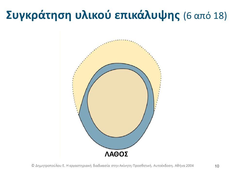 Συγκράτηση υλικού επικάλυψης (6 από 18) 10 ΛΑΘΟΣ © Δημητροπούλου Ε.