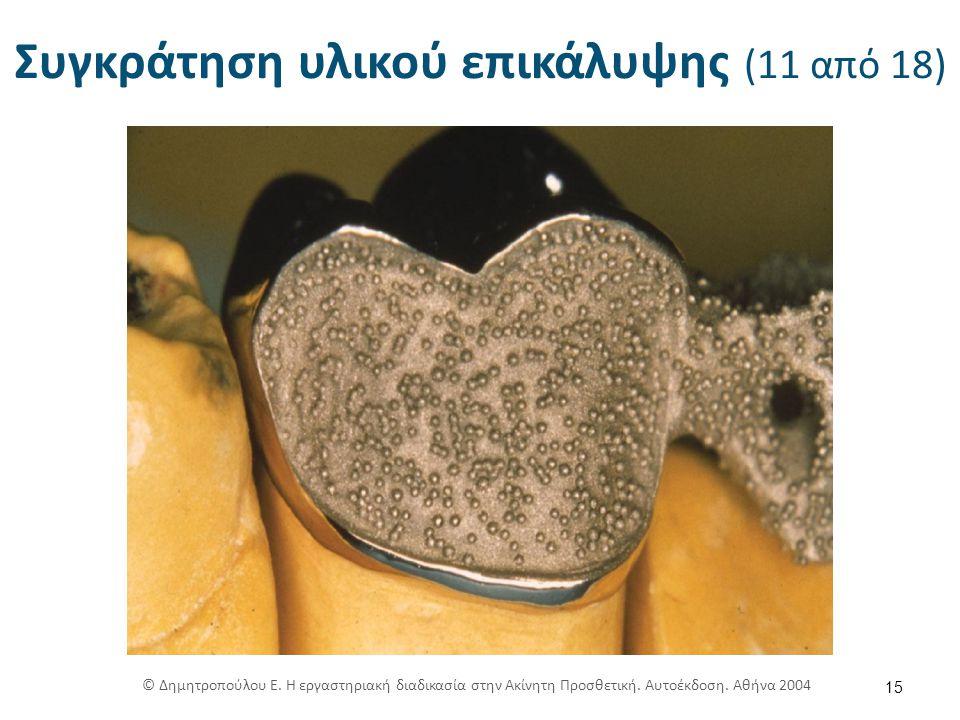 Συγκράτηση υλικού επικάλυψης (11 από 18) 15 © Δημητροπούλου Ε.