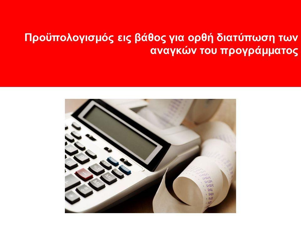 Προϋπολογισμός εις βάθος για ορθή διατύπωση των αναγκών του προγράμματος