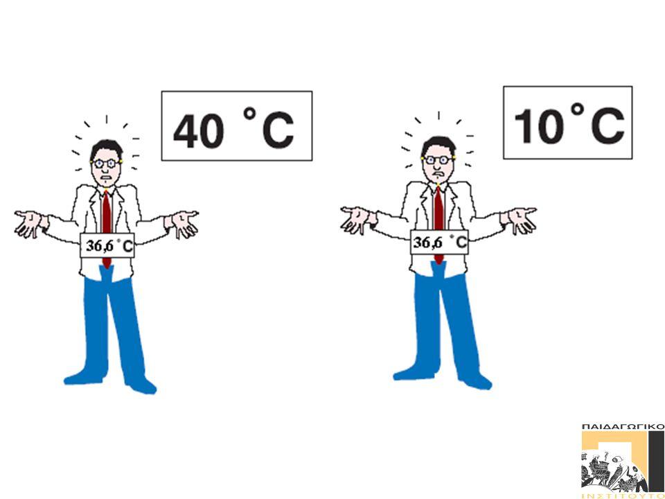  Στον άνθρωπο το μπροστινό τμήμα των ημισφαιρίων τους «κάνει» να αισθάνονται κρύα ή ζεστά.