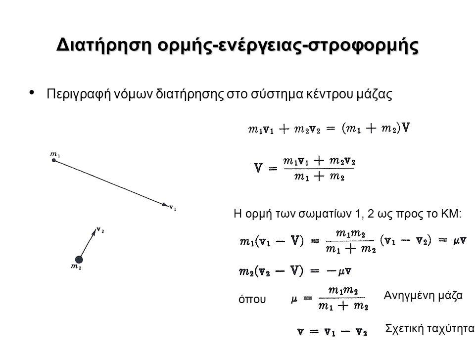 Κινητική ενέργεια πρίν την αντίδραση Η σχέση διατήρησης κινητικής ενέργειας ισχύει εφόσον η συνολική μάζα διατηρείται, το οποίο βέβαια δεν ισχύει όταν έχουμε μια «πηγή» ΚΕ: Για τις περισσότερες αντιδράσεις στην αστροφυσική ισχύει Οπότε μπορούμε να υποθέσουμε με ακρίβεια καλύτερη από 1% ότι η ΚΕ του ΚΜ Δηλ.