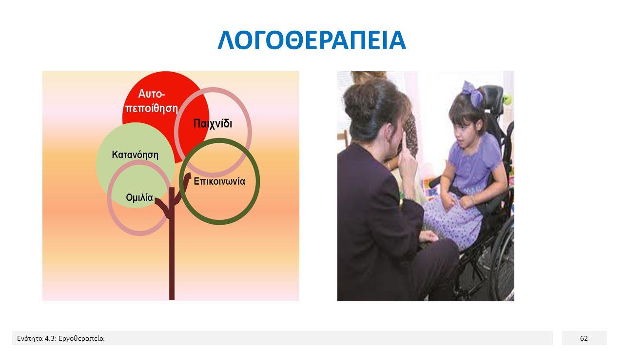 Ενότητα 4.3: Εργοθεραπεία-62- ΛΟΓΟΘΕΡΑΠΕΙΑ