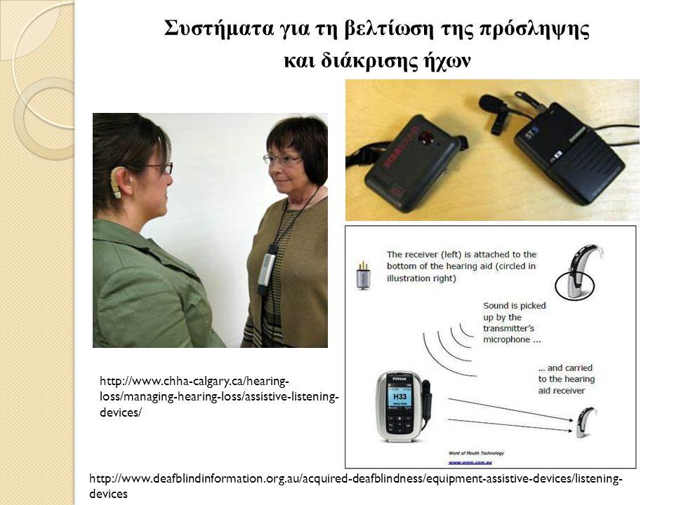 Δέκτης /π ηνίο Ε π εξεργαστής ήχων / ομιλίας Ηλεκτρόδια Πομ π ός Μικρόφωνο http://www.baycare.net/blog/2014/febru ary/what-is-a-cochlear-implant http://www.mrc-cbu.cam.ac.uk/improving- health-and-wellbeing/cochlear-implant/