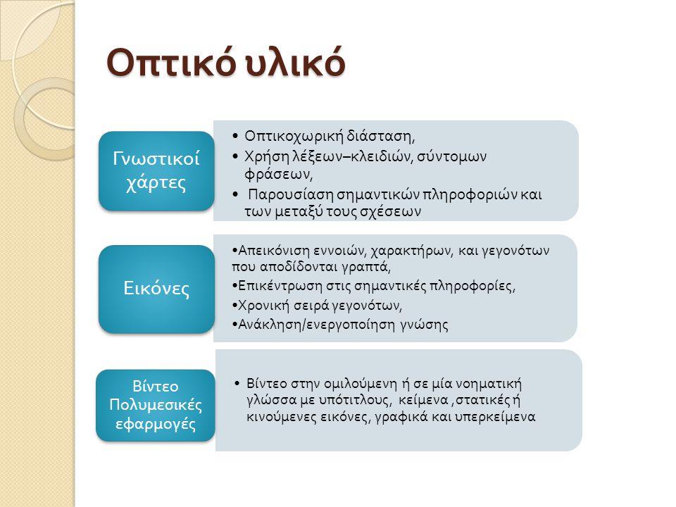 Χρηματοδότηση Το παρόν εκπαιδευτικό υλικό έχει αναπτυχθεί στ o πλαίσι o του εκπαιδευτικού έργου του διδάσκοντα.