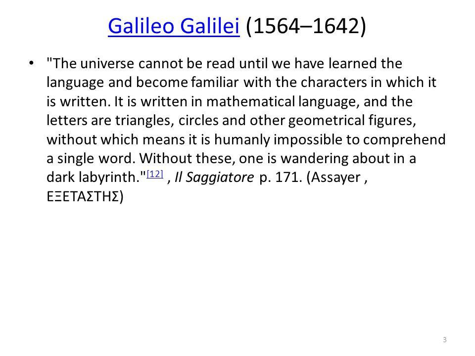 Galileo GalileiGalileo Galilei (1564–1642)