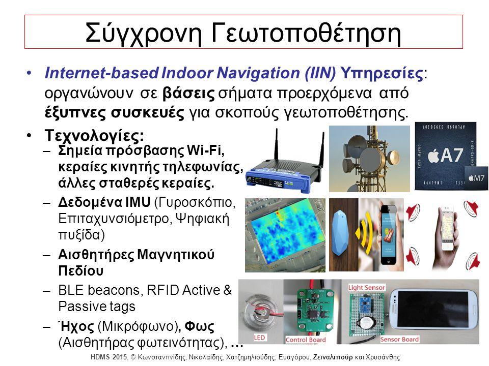 Dagstuhl Seminar 10042, Demetris Zeinalipour, University of Cyprus, 26/1/2010 HDMS 2015, © Κωνσταντινίδης, Νικολαΐδης, Χατζημηλιούδης, Ευαγόρου, Ζεϊναλιπούρ και Χρυσάνθης 14 Διατύπωση Προβλήματος Ένας χρήστης u κινείται σε εσωτερικό χώρο (ΕΧ) που έχει m Σημεία Πρόσβασης AP = {ap 1,…, ap m }.